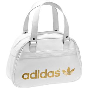 Белая сумка adidas adicolor bowling для боулинга.